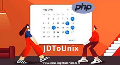 PHP jdtounix() Function