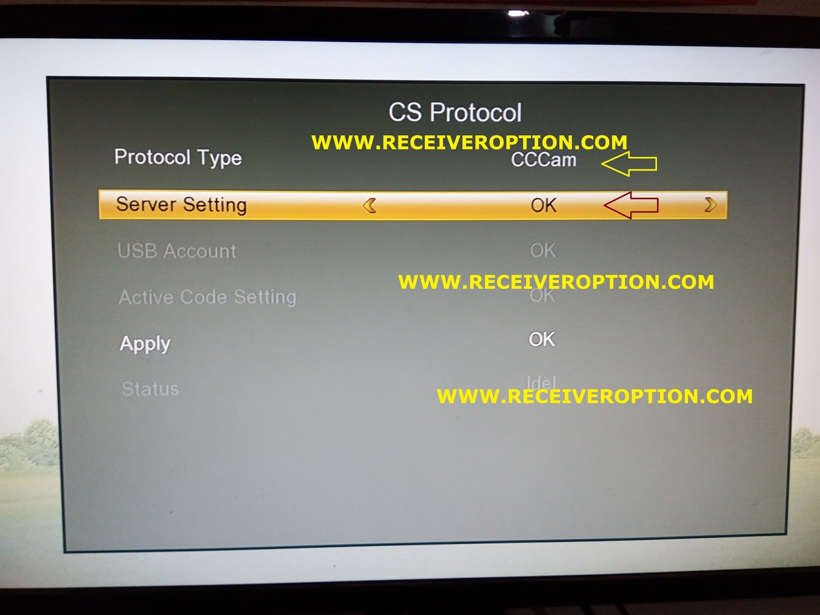STARTRACT O2 HD RECEIVER CCCAM OPTION - HOW TO ENTER BISS
