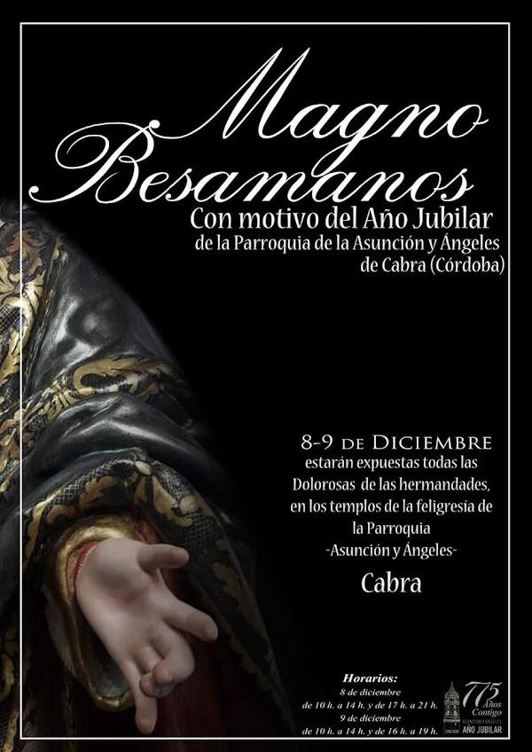 Cartel del besamanos Magno con motivo del año Jubilar en Cabra