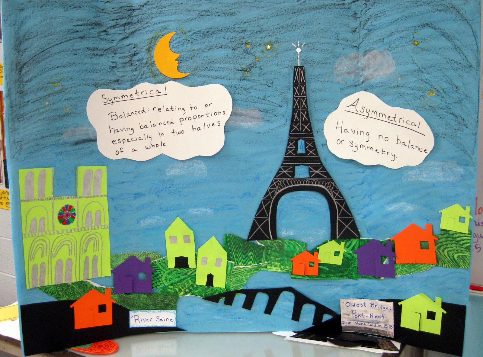 Cassie stephens in the art room collage paris for Paris themed crafts for kids