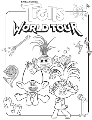 Trolls World Tour coloring pages