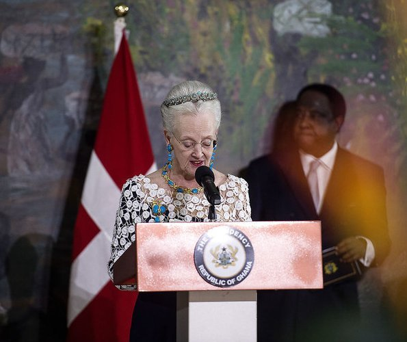 Queen Margrethe attend a gala dinner with President Nana Addo Dankwa Akufo-Addo