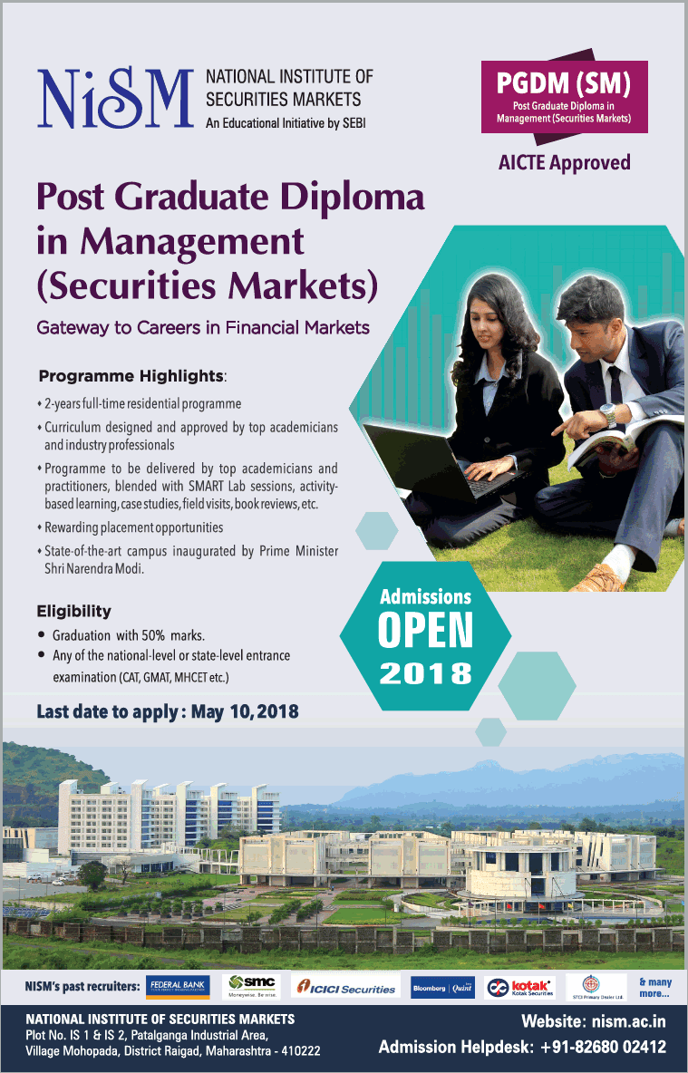 CAREERS IN NATIONAL INSTITUTE OF SECURITIES MARKETS