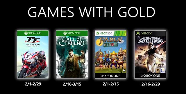 Xbox Live Gold : Les jeux de février 2020