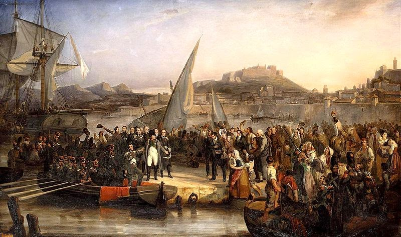 Napoleon Leaving Elba by Joseph Beaume, 1836