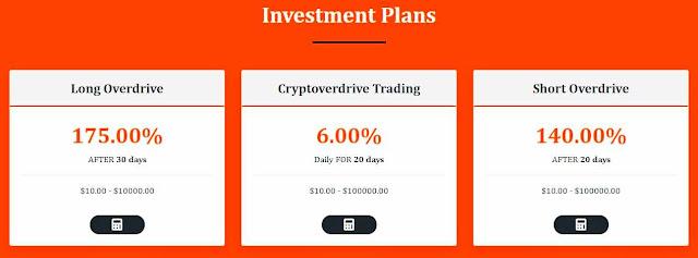 Cryptoverdrive.com - инвестиционные планы для заработка в проекте
