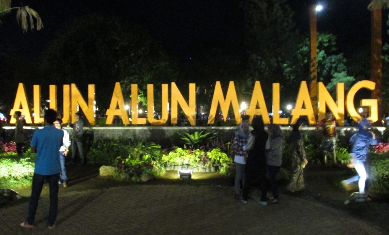 Alun alun Malang Jawa Timur