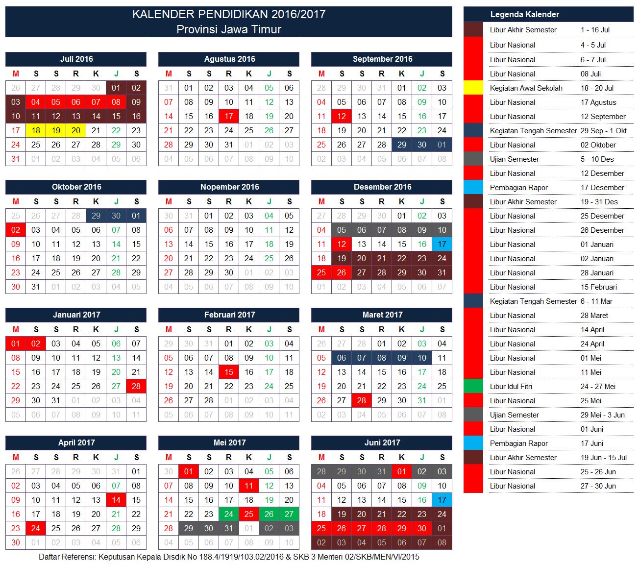 Kalender Pendidikan Provinsi Jawa Timur