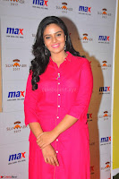 Sree Mukhi in Pink Kurti looks beautiful at Meet and Greet Session at Max Store (10).JPG