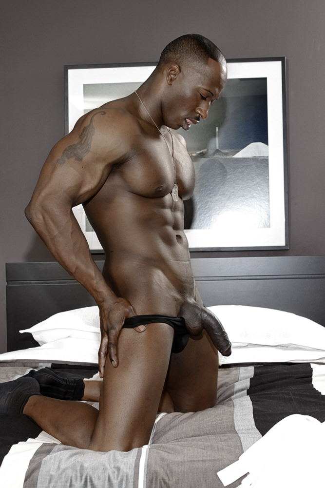 Naked black muscle men