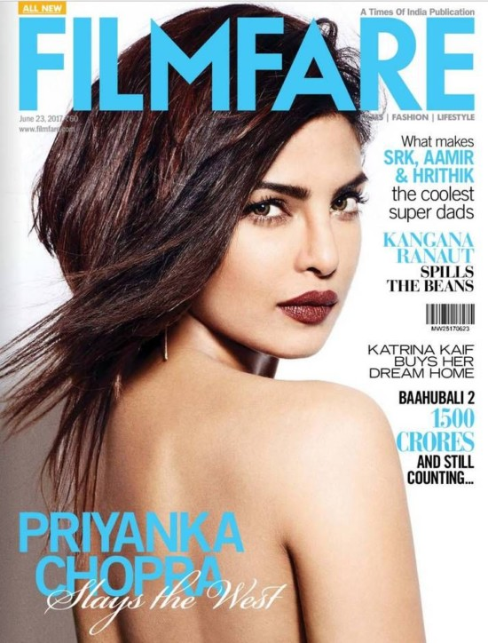 Priyanka Chopra Features on The Cover of Filmfare Magazine June 2017
