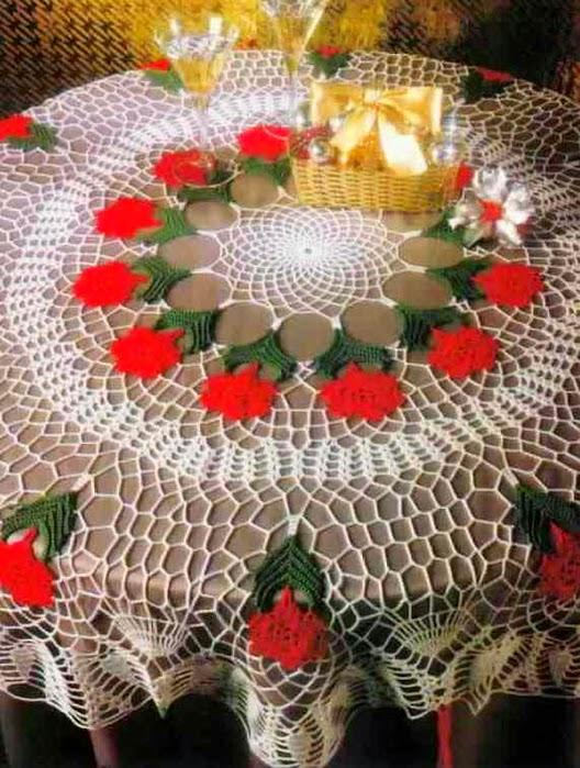 Mantel circular de Navidad