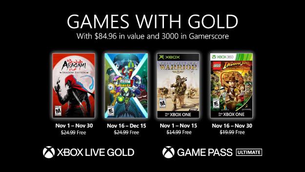 [Games with Gold] Δείτε τα δωρεάν παιχνίδια του Xbox για τον Νοέμβριο