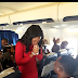 Love-struck man proposes to girlfriend aboard an Air Peace flight to Lagos