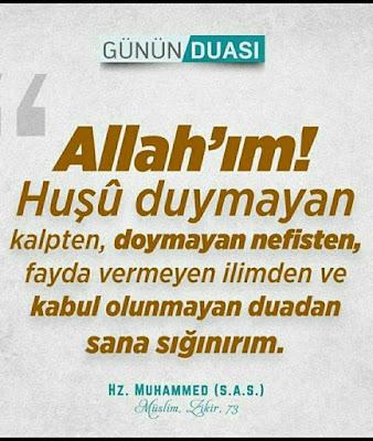 günün duası, dua, hadis dua, hadisi şerif, hz Muhammed,