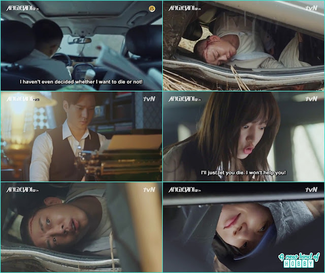 So joo end up in an accident and Jeon Seol was near by - Chicago Typewriter: Episode 2