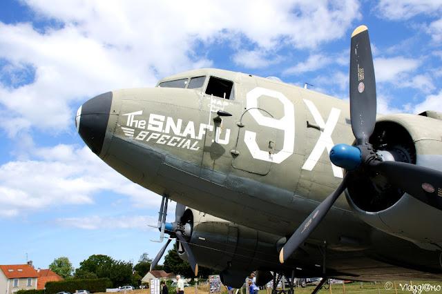 Particolare dell'aereo dello Sbarco, conservato a Merville