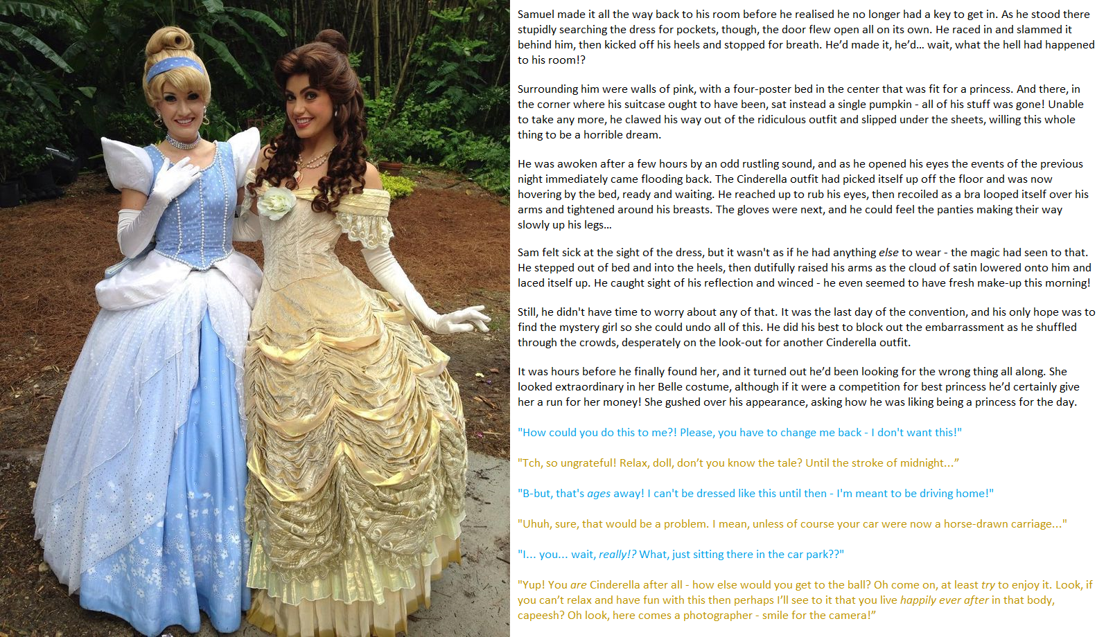 Emily's TG Captions: A Princess For a Day Belle of the