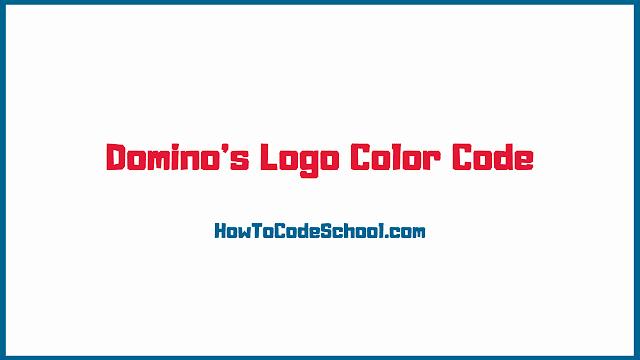 Domino's Logo Color Code