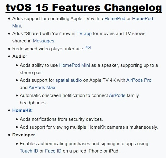 tvOS 15 Features