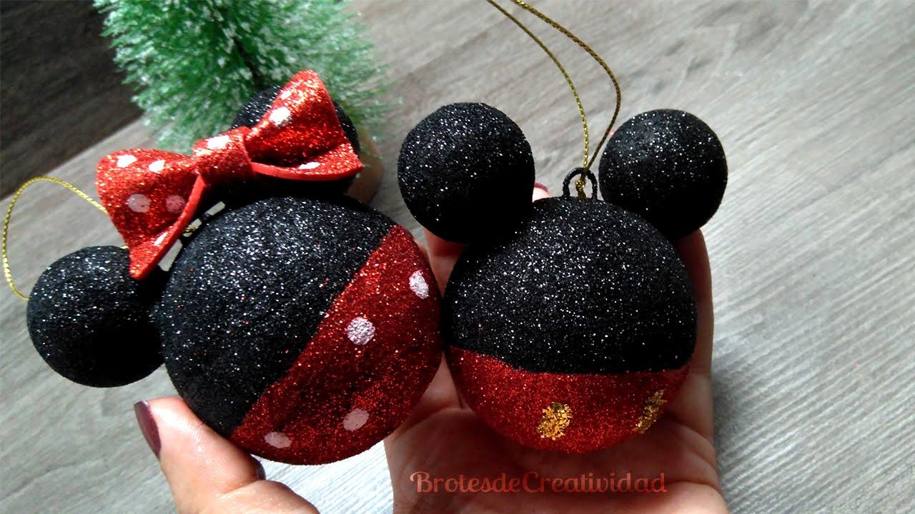 Brotes de Creatividad: Adornos / Esferas de Mickey y Minnie Mouse ...