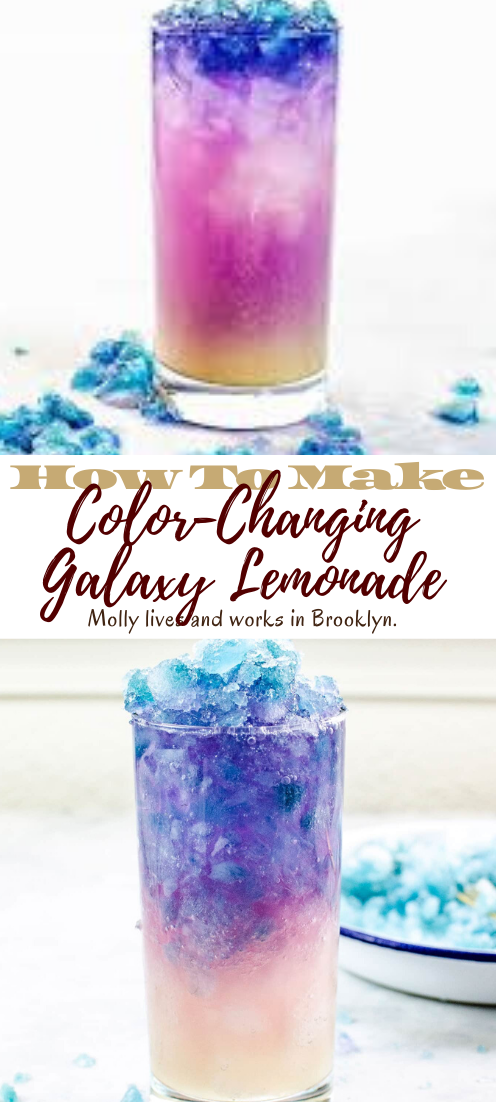 Color-Changing Galaxy Lemonade #healthydrink #drinkrecipe #smoothiehealthy #cocktail