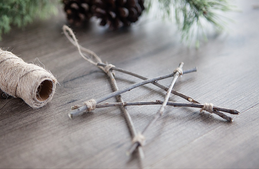 rustic twig christmas ornament