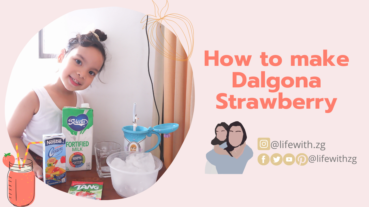 Can you feel the summer heat?  Beat the heat with this refreshing drink! 2 ingredients and super easy strawberry dalgona that you should try now!