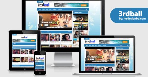 3rdBall Movie - Template Blogger untuk Blog Film Gratis