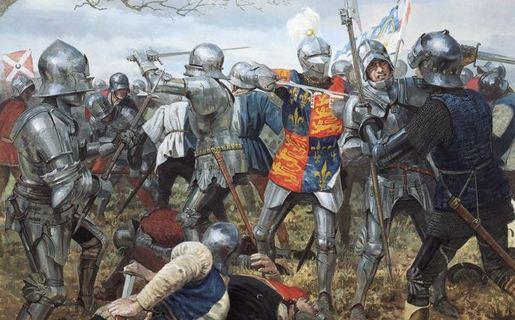 kesatria medieval eropa dalam pertempuran