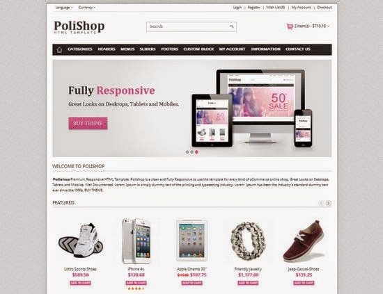 PoliShop - Online Store Responsive Blogger Template