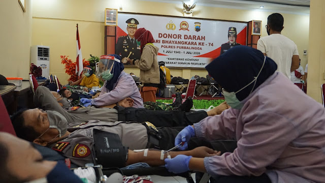 Polres Purbalingga Gelar Donor Darah Hari Bhayangkara