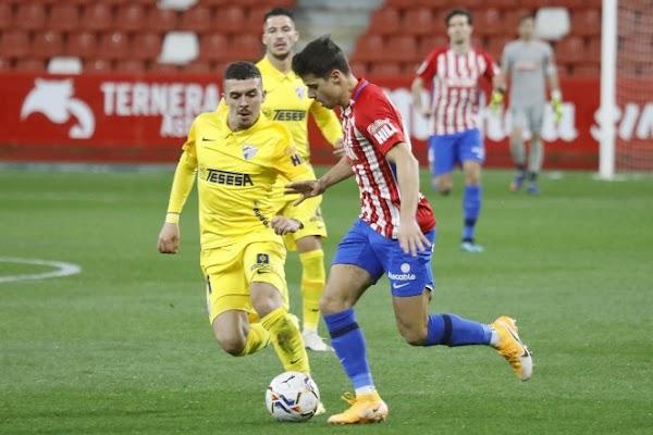 El Málaga cae ofreciendo buena cara contra el Sporting (1-0)
