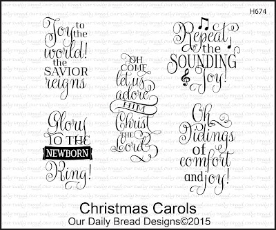 Our Daily Bread Designs Stamp set - Christmas Carols
