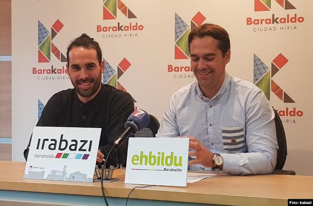 Eder Álvarez (Irabazi) e Iker Rahona (EH Bildu)