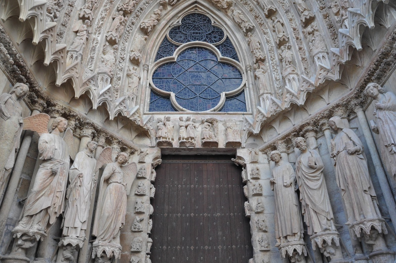 Outside view, Reims Cathedral, Reims, France