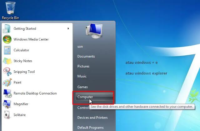 Membuka Windows Explorer