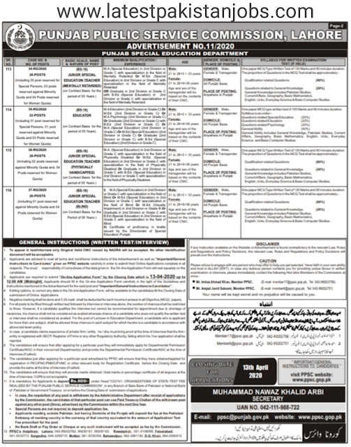 Educators Punjab Jobs 2020