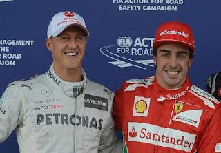 Michael Schumacher y Fernando Alonso los pilotos mas ricos de la Formula Uno F1