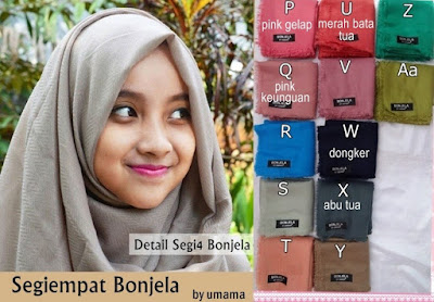Model Jilbab Terbaru Segiempat Bonjela