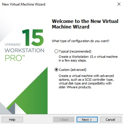 Create Virtual Machine on VMware Workstation
