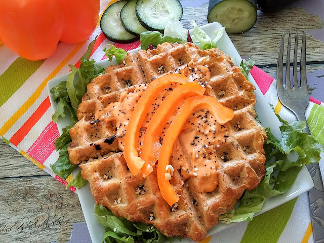 Spicy Salmon Waffles