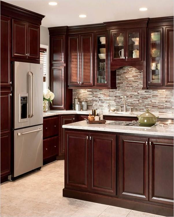 √√ cherry wood kitchen cabinets  home interior exterior