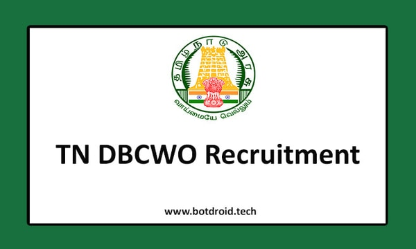 TN DBCWO Recruitment 2020, Apply for Cook Vacancies in Tamilnadu