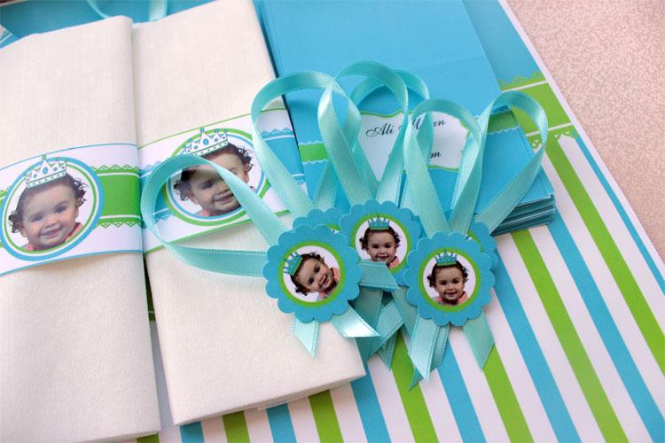 mavi-yeşil temalı doğumgünü partisi