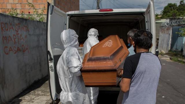 Brasil registra 4.249 mortes por Covid-19 nesta sexta-feira (08) e bate novo recorde