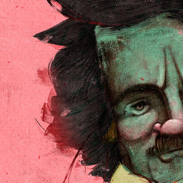 Retrato de Edgar Allan Poe por Hache Holguín