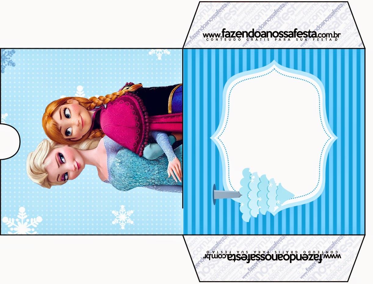 Funda CD´s para Imprimir Gratis de Frozen Navidad Azul.