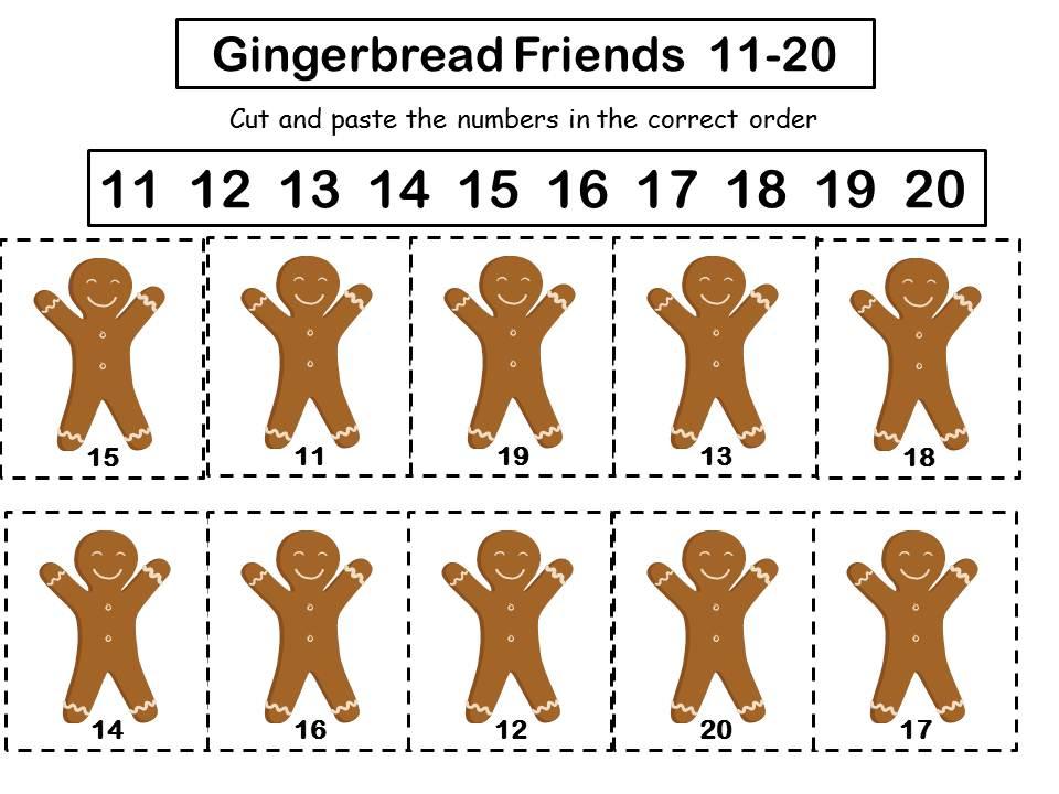 For The Love Of Kindergarten: Gingerfriends 11-20 Freebie
