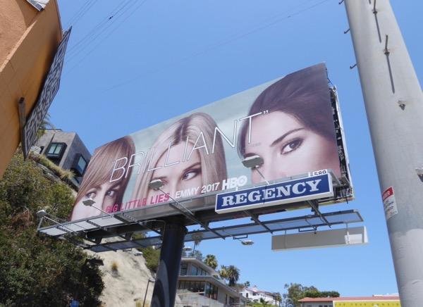 Big Little Lies Brilliant Emmy FYC billboard